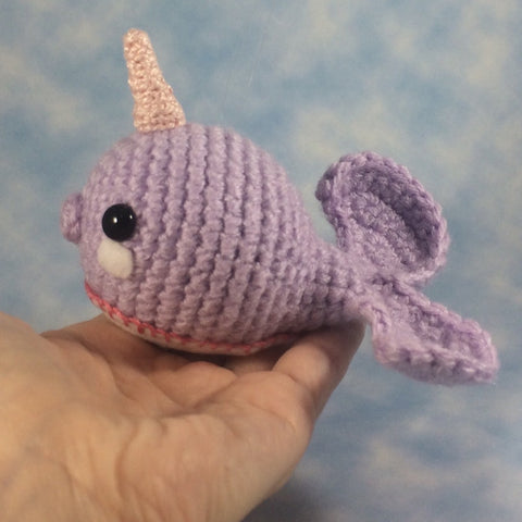 CROCHET PATTERN for Kawaii Magical Narwhal Amigurumi Soft Sculpture