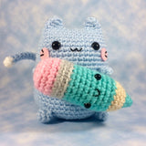 CROCHET PATTERN for Kitty's Squishy Plushy Pencil Amigurumi