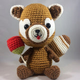 CROCHET PATTERN forJapanese Red Panda with Yummy Candy Apple