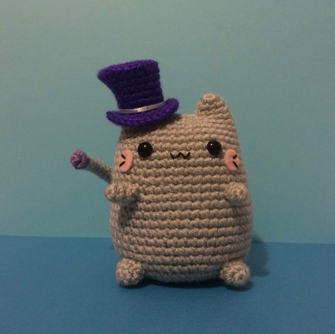 Top Hat Kitty!  The Cutest Off-Kilter Kitty Amigurumi!