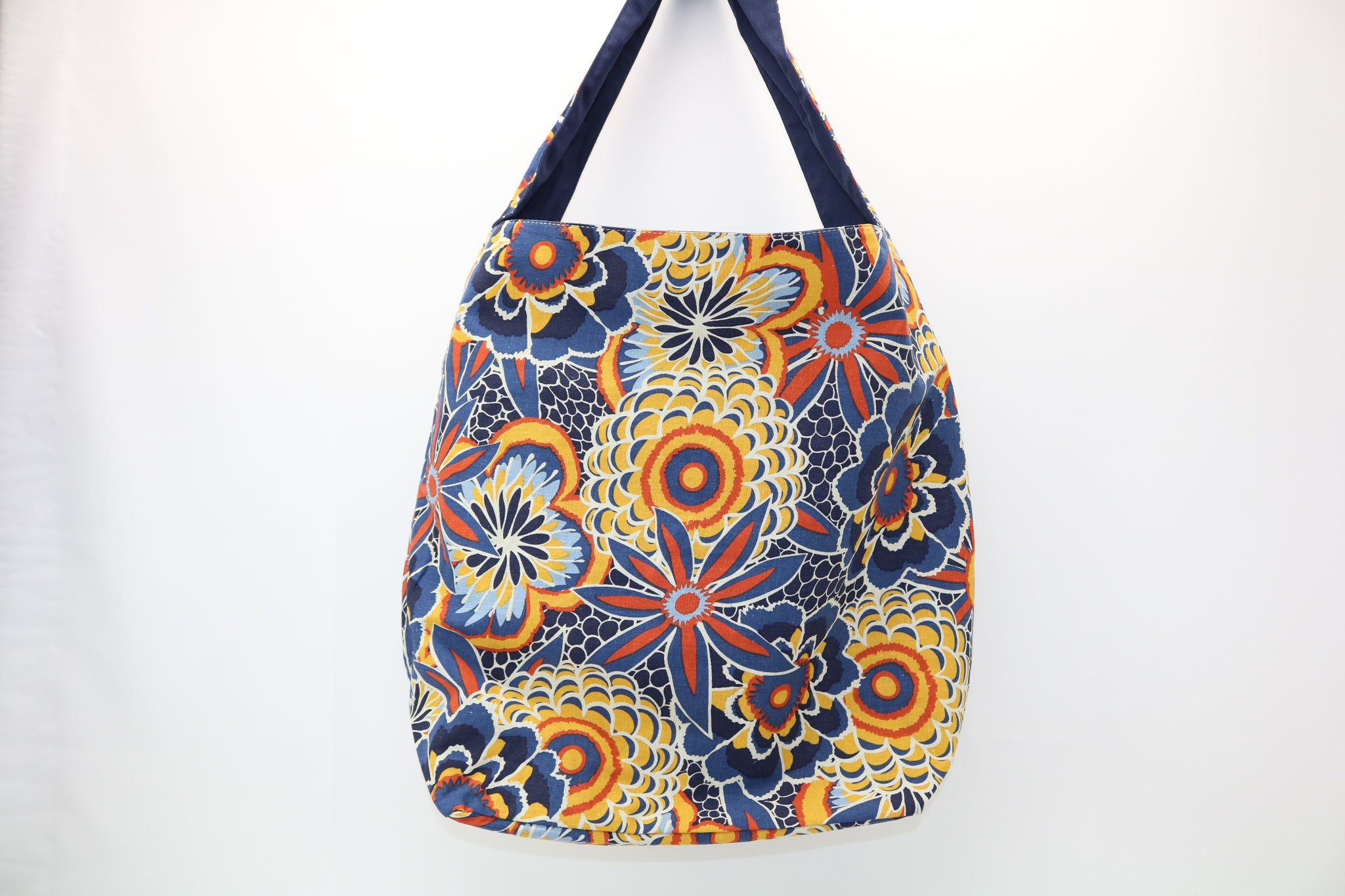 0035de5167 Large Market Hobo Navy Orange Multi Mosaic
