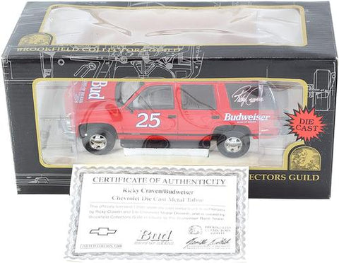 diecast model - Chevy Chevrolet Tahoe #25 Ricky Craven Budweiser Limited Edition of only 5000