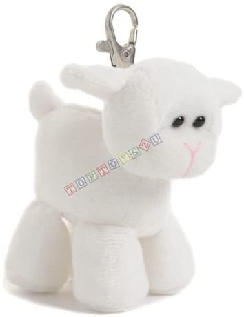Aurora Farm Pals Lamb Keychain Soft Plush Toy New With Tags