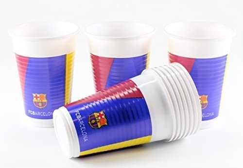 Official Barcelona Football Club FC Barcelona 200ml Plastic Party Cups 10 Pack