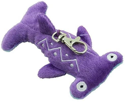 Aurora Fanta - Sea Life 4 inch Soft Plush Key Clip - Purple & Blue Hammer Head Shark