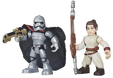 Star Wars Galactic Heroes Figure Two Pack - Rey (Jakku) & Captain Phasma