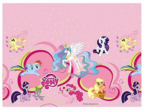 Unique Party Hasbro 180 x 120 cm Plastic My Little Pony Table Cover