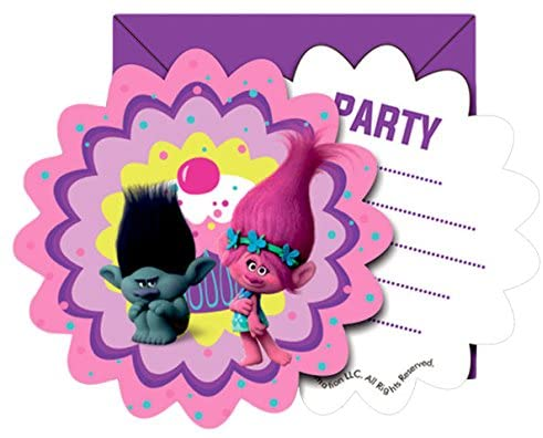 Dreamworks Trolls 49805 Invitations