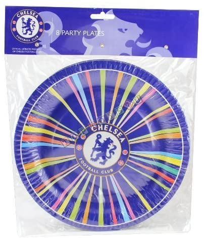 Chelsea Football Club Paper Birthday Part Plates Pack of 8