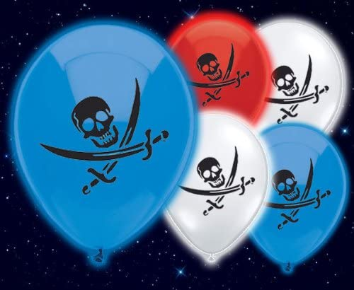 Pirate light up balloons (5pk)
