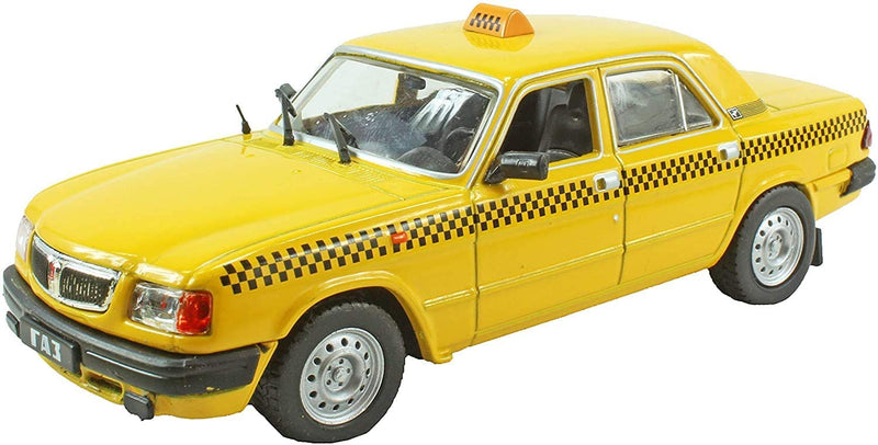 DeAgostini 1:43 Diecast Russian Legends - Russian GAZ-3110 Volga Taxi Car Model