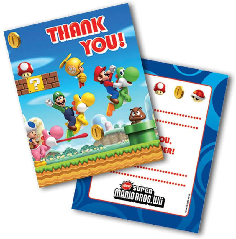 """Super Mario Party Thank You Cards, pack of 6"""