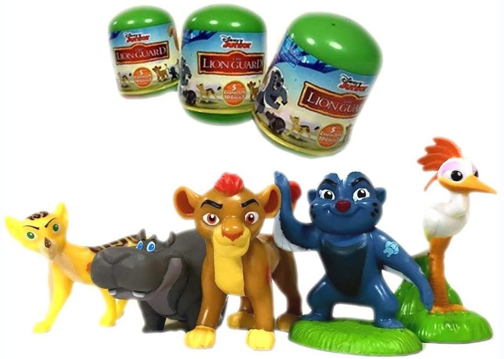 Zulu Lion Guard Complete Set 5 Mini Figures 5cm Collection Original Cake Decoration Cake Topper Disney
