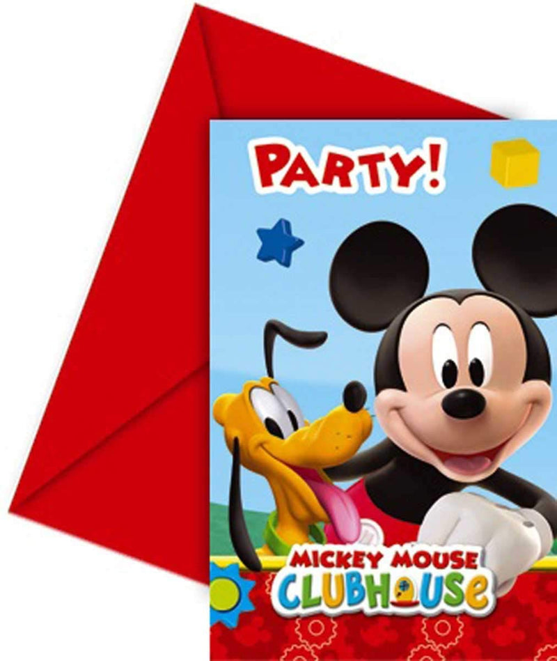 Unique Party Amscan Playful Mickey Invites/ Envelopes Party Accessory