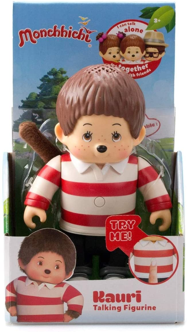Monchhichi 13cm Articulated Talking Figure with 15 Phrases Super Cute - Kauri