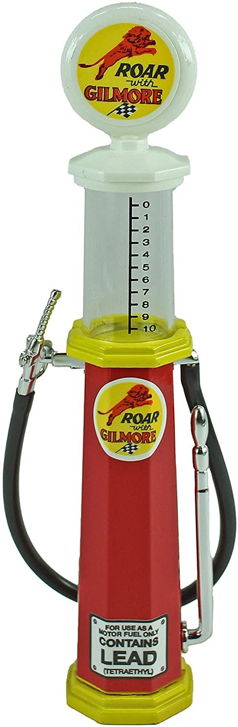 Road Signature Collection - 1:18 Diecast Gas Pump Replica - Roar with Gilmore Cylinder Pump