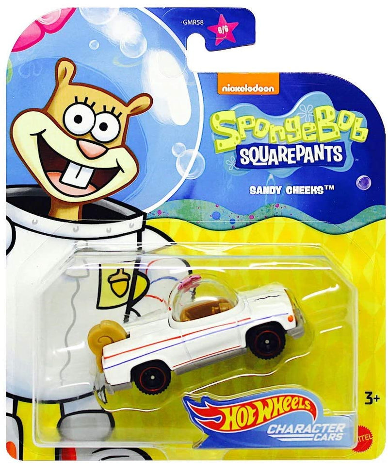 Hot Wheels Character Cars Sponge Bob Squarepants Sandy Cheeks GMR59 1:64