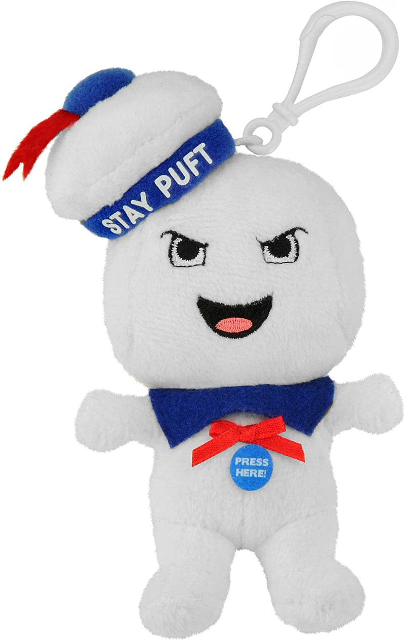 Classic Ghostbusters Mini 4 inch Talking Angry Stay Puft Marshmallow Man Plush Clip On