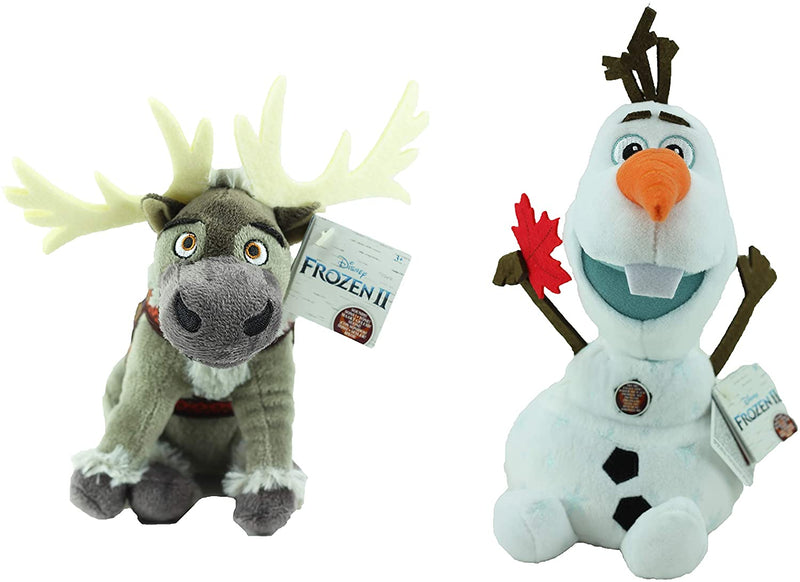"Frozen 2 - Set of 2 Super Soft Plush Toys with Sounds 10"" 25cm - Olaf & Sven"