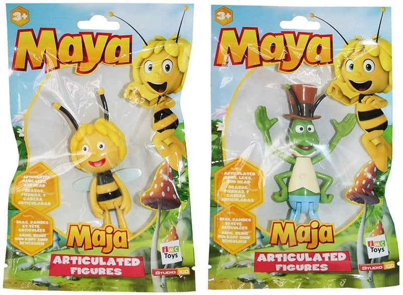 Maya the Bee - Articulated Character Figures Set of 2 - Maya & Flip
