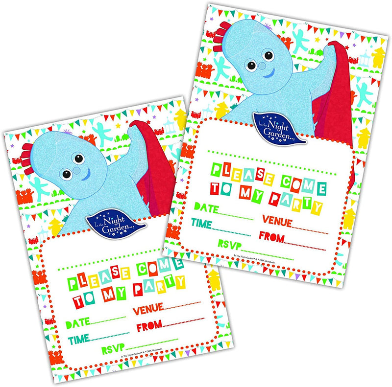 Official In the Night Garden Party Invites x Pack of 20 with Envelopes