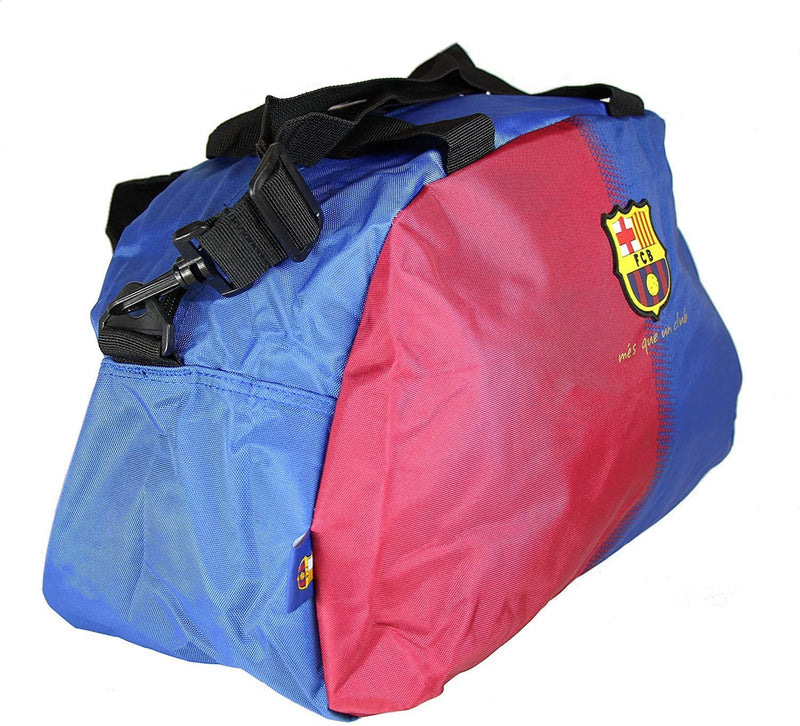 Officially Licensed - Barcelona FCB Football Team - Large School Sports Gym Duffel Kit Bag