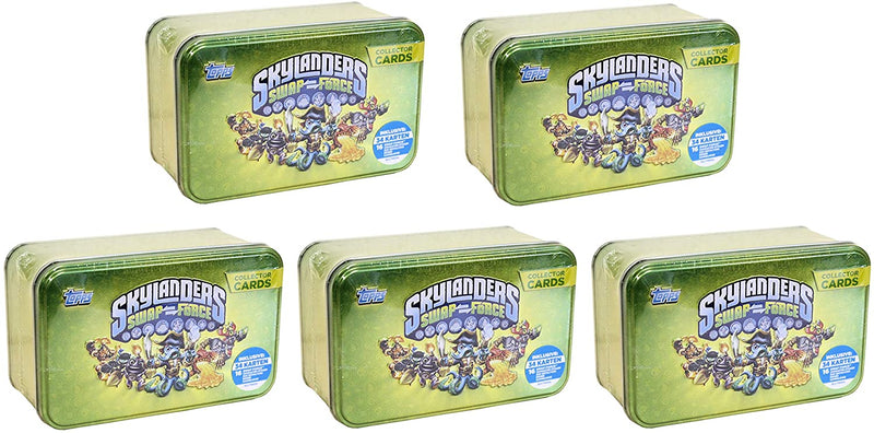 SKYLANDERS Swap Force Collector Cards Tin - Super Value 5 Tin Pack