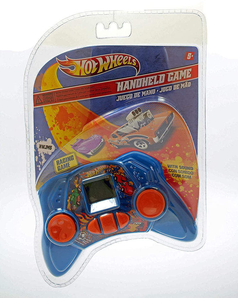 Hot Wheels Retro Handheld Racing Game with Sound in Light Blue