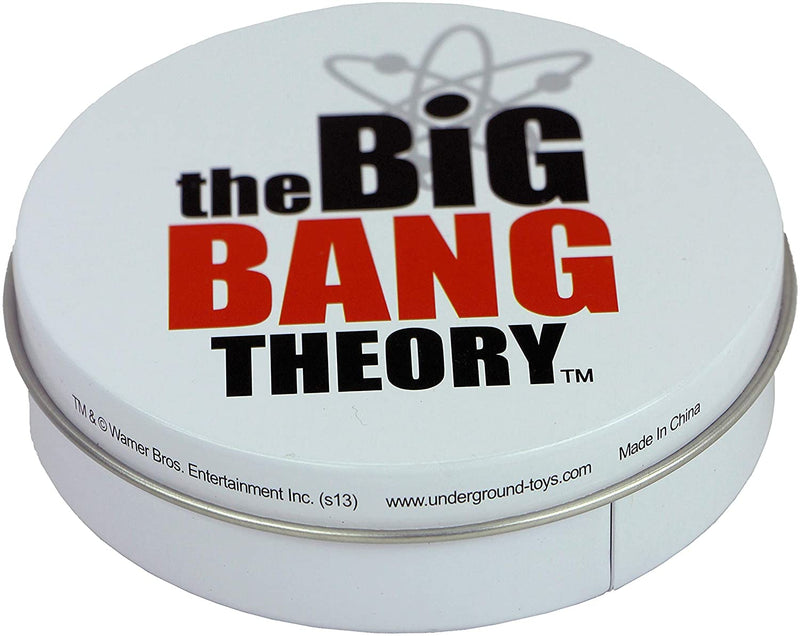 The Big Bang Theory Set of 4 Metal Coaster in Tin - Soft Kitty and Bazinga Designs Included