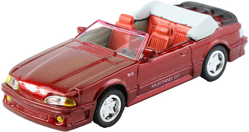 NewRay 1989 Ford Mustang GT 5.0 Convertible in Red 1:43 Diecast - All American City Cruiser Collection