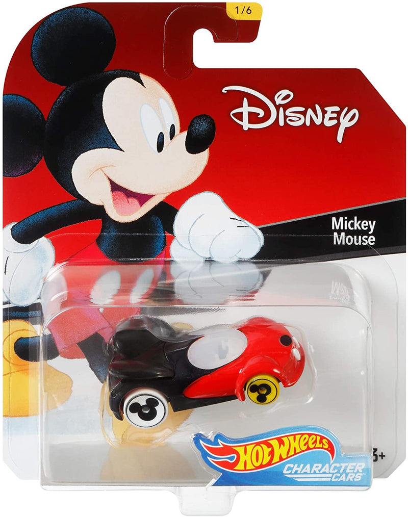 Hot Wheels Disney Character Cars Series 1 Diecast 1:64 Scale Collectors Model - Mickey Mouse 1/6