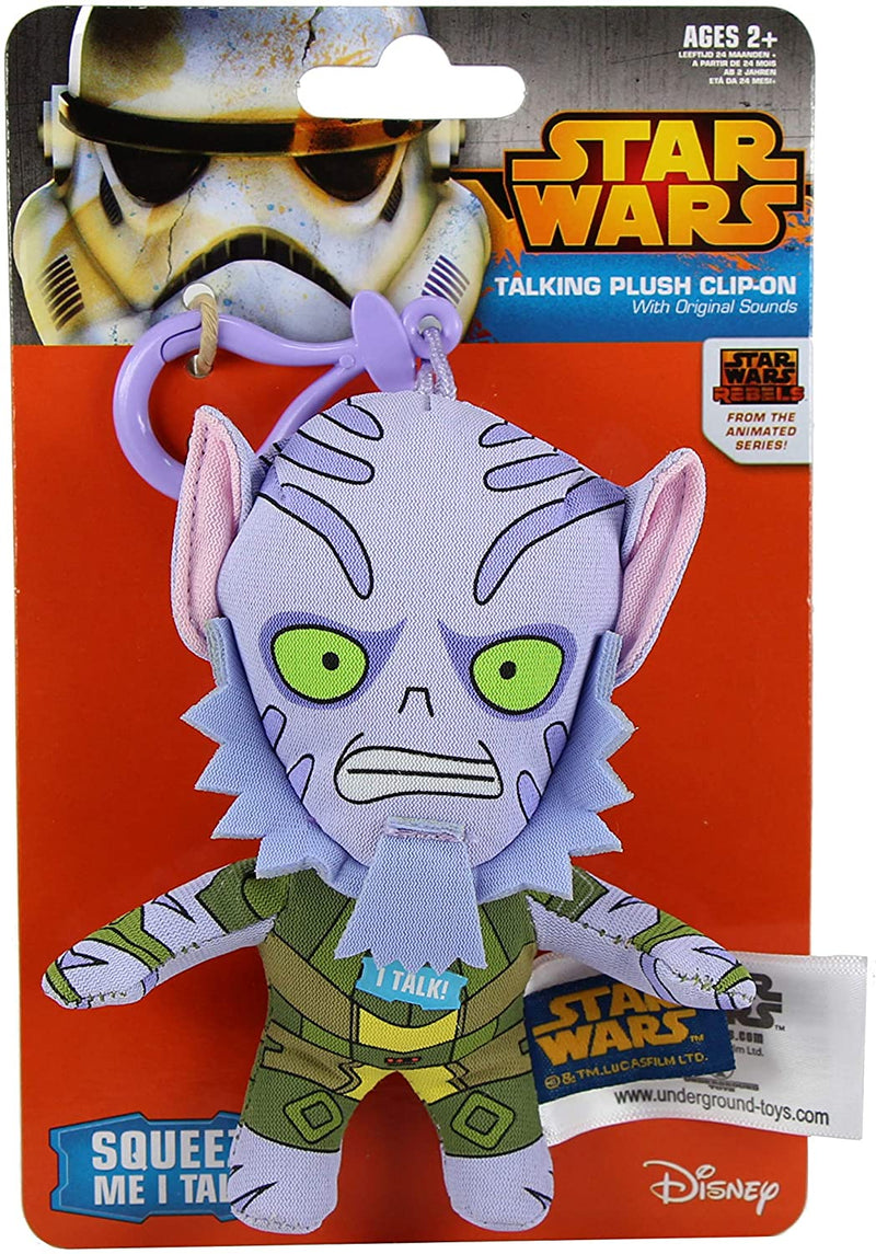 Star Wars Rebels Zeb Orrelios Mini Talking Plush Clip-On Figure