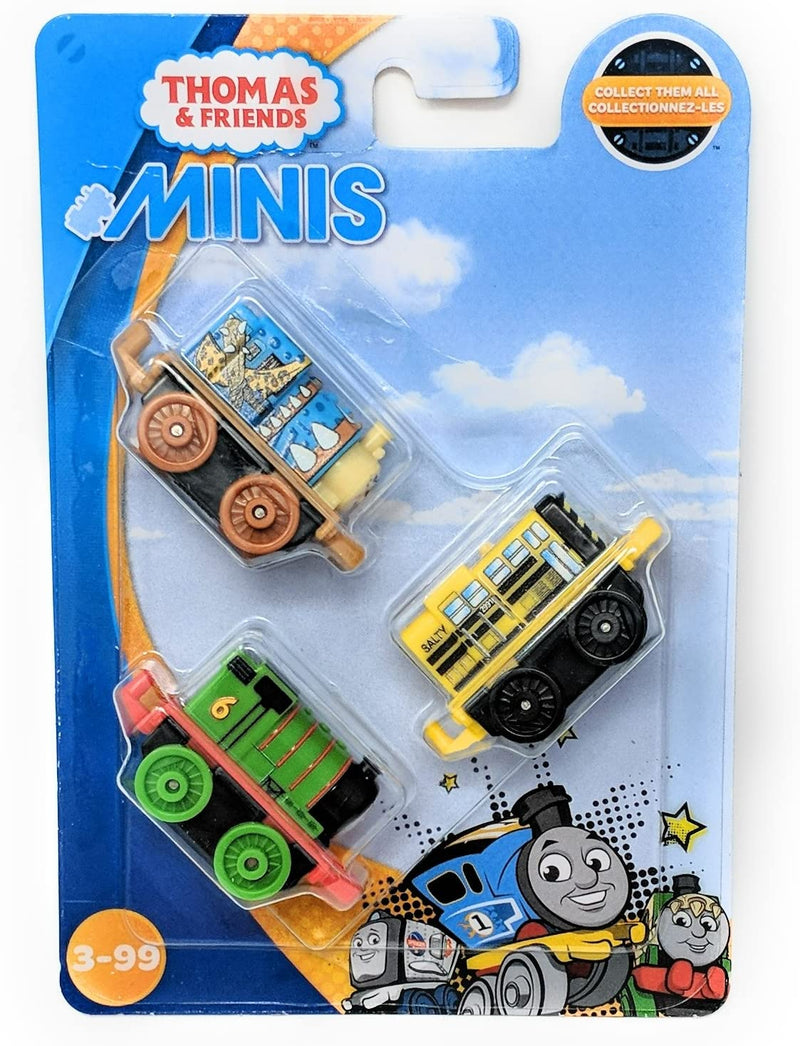 Thomas & Friends Minis 3 Pack - Cyclops Porter, Classic Percy & School Bus Salty FNC03