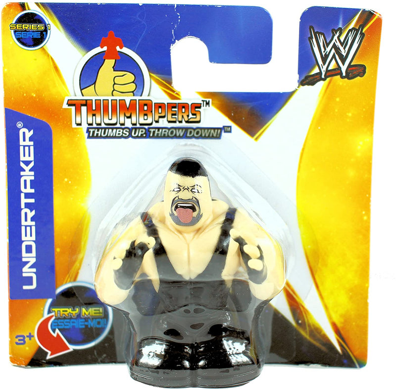 WWE Thumbpers Series 1 - Wrestling Action Toy Figure - UNDERTAKER