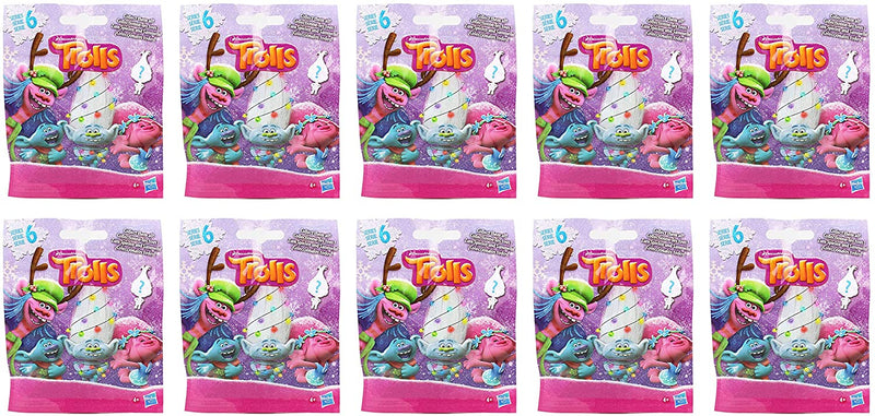 Trolls Dreamworks Series 6 Blind Bag 6cm Figure Party Favour Mystery Bags 10 Pack
