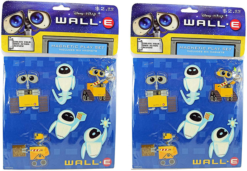 Pixar Disney Wall-e Magnetic Play Sets - Pack of 2 Blue Designs