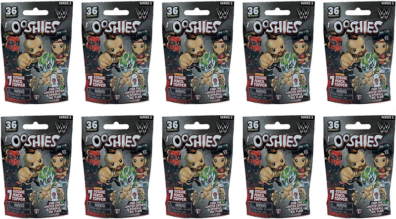 Ooshies WWE Series 2 Pencil Topper Figures Blind Bag Party Favour Pack of 10