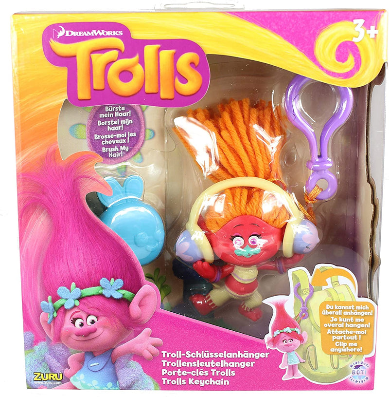 Dreamworks Trolls Keychain - DJ Suki with Bug Brush