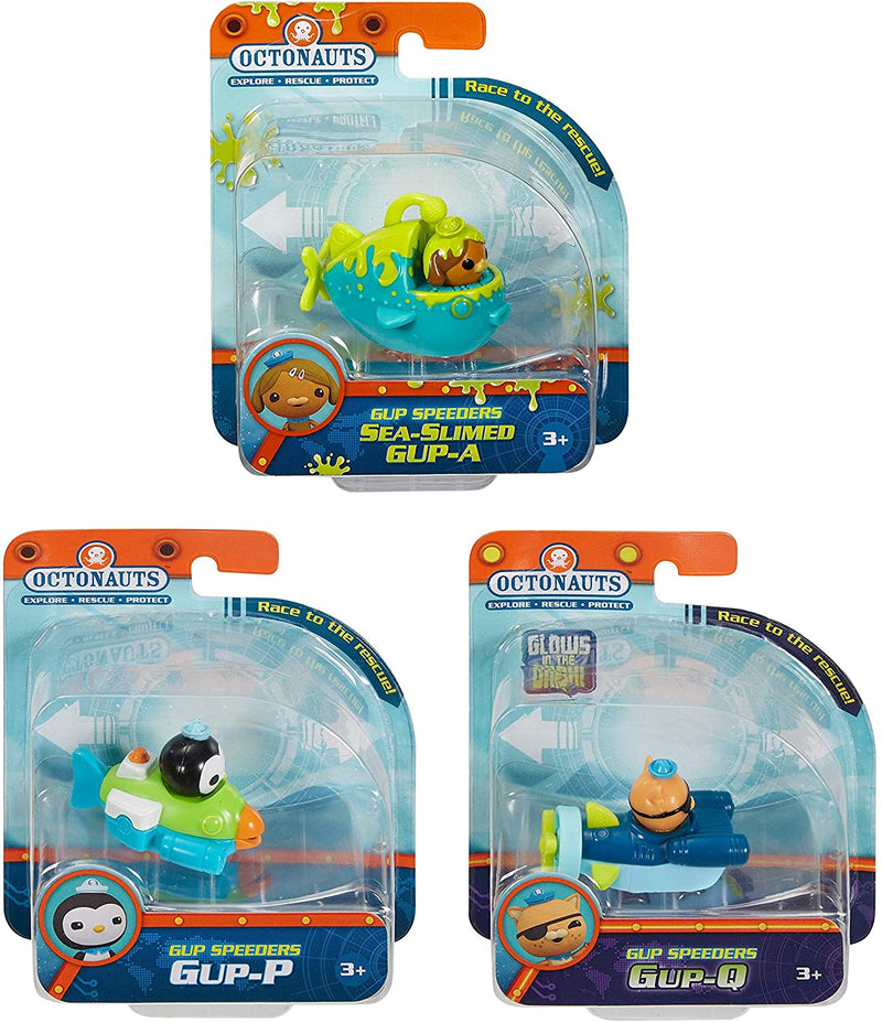 Octonauts Fisher Price Gup Speeders 3 Pack - GUP-A GUP-P & GUP-Q, S2