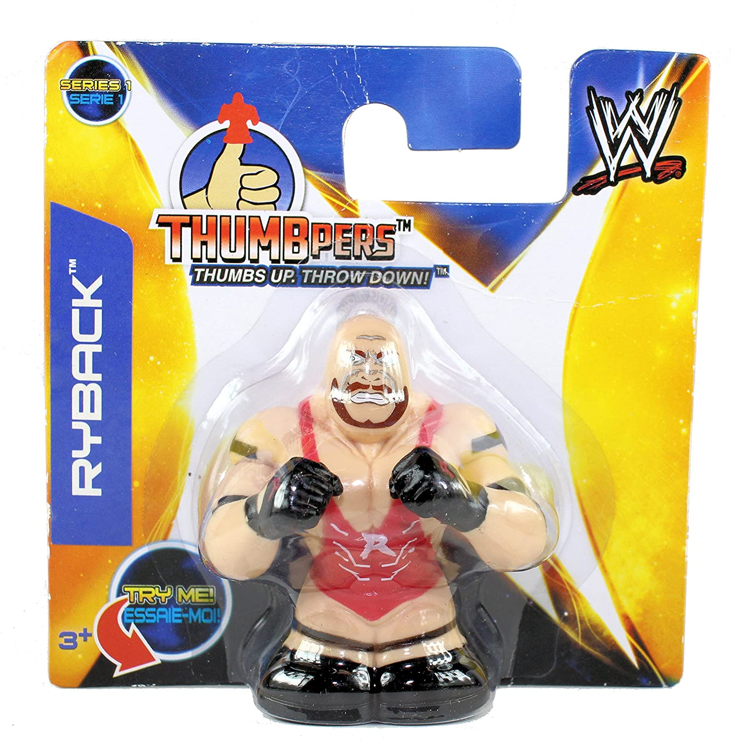 WWE Thumbpers Series 1 - Wrestling Action Toy Figure - RYBACK
