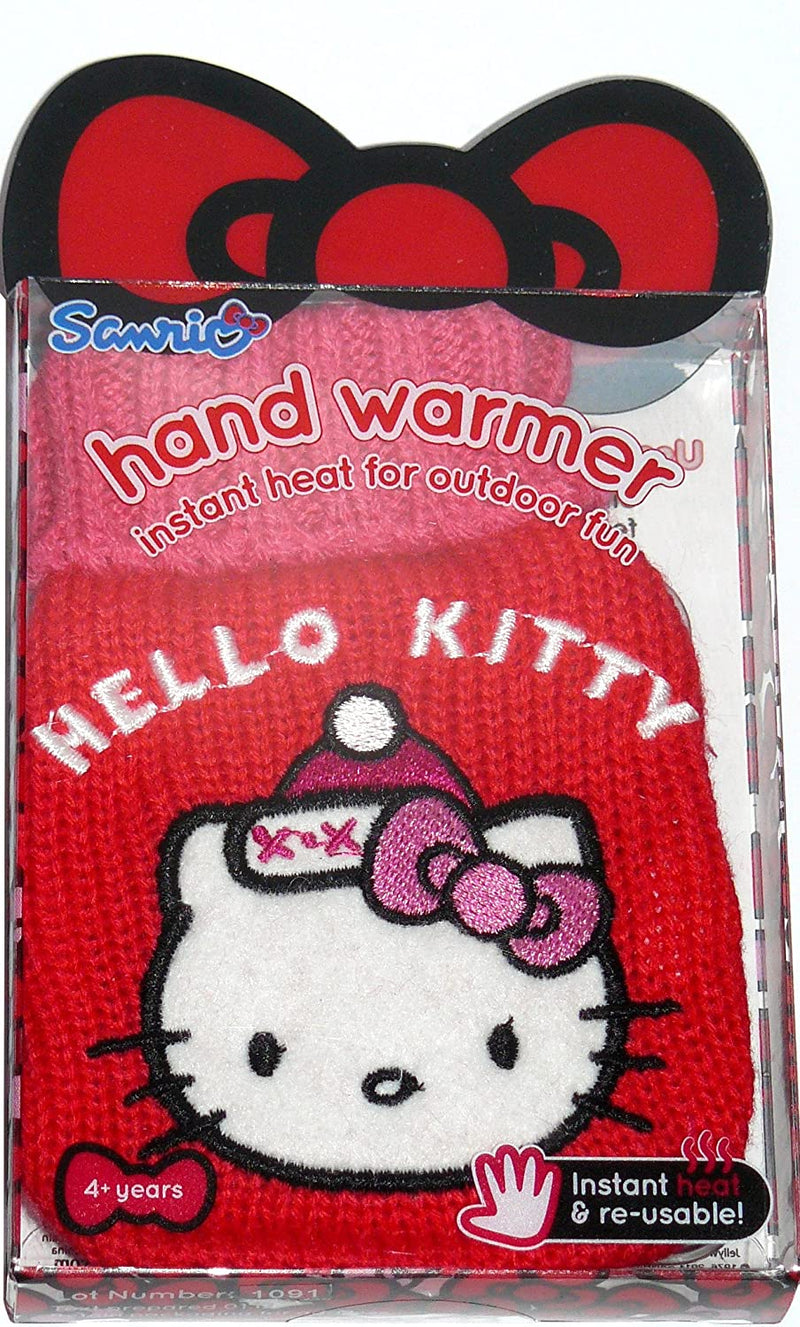 Hello Kitty Reusable Hand Warmer With Knitted Case