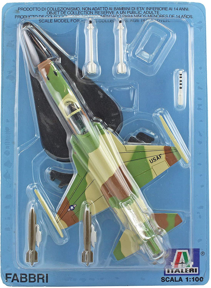 Fabbri Italeri 1:100 Diecast Model - Military Planes & Helicopters Magazine Tiger MKII Fighter Jet