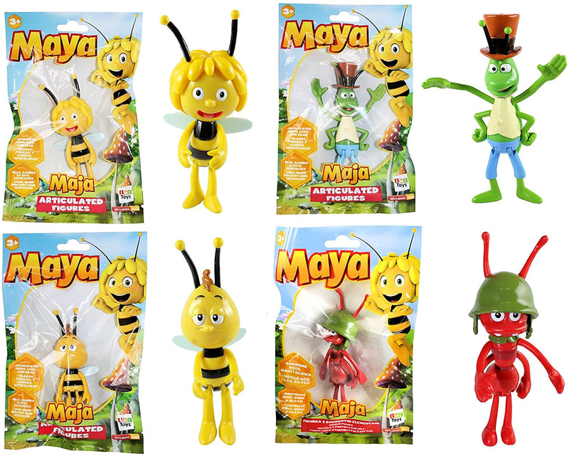 Maya the Bee - Articulated Character Figures Set of 4 - Maya, Willy, Flip & Paul