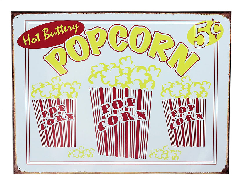 Three Sisters Retro Wall Art Tin Sign Plaque 30cm x 40cm - Hot Buttery Popcorn