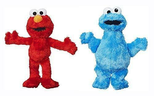 "Elmo & Cookie Monster 8"" 20cm Super Soft Plush New with Tags Set of 2"