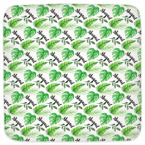Palm Leaf - Personalized Hooded Baby Towel