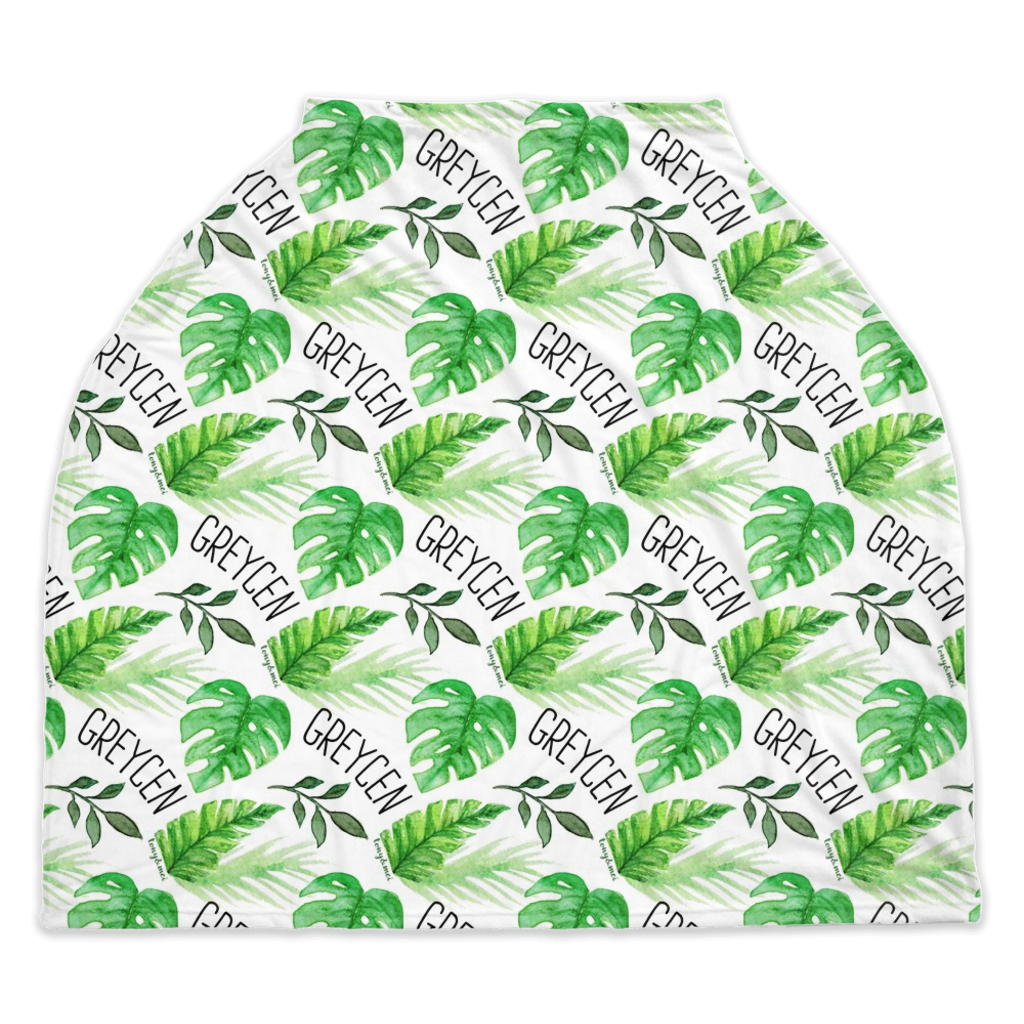 Palm Leaf  - Personalized Multi Use Nursing Cover