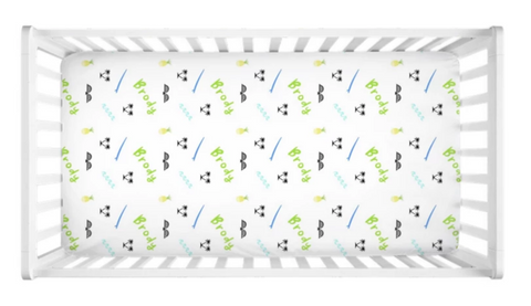 North Shore - Personalized Crib Sheet (more color options available)