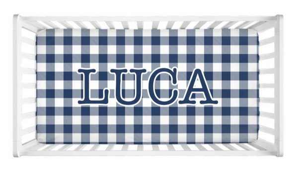 Buffalo Check - Personalized Crib Sheet (more color options available)