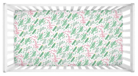 Cactus - Personalized Crib Sheet